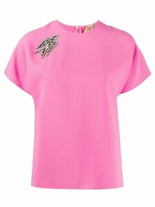 Nº21 embellished swallow T-shirt - PINK