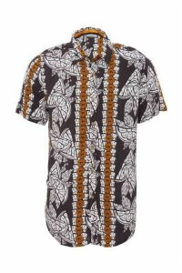 Black & Stone Tribal Print Short Sleeve Shirt