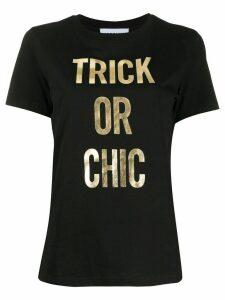 Moschino Trick or Chic print T-shirt - Black