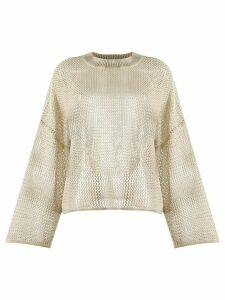 See by Chloé sheer linen jumper - NEUTRALS