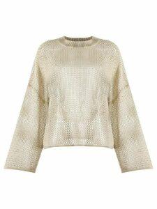 See by Chloé sheer linen jumper - NEUTRALS