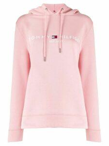 Tommy Hilfiger logo print hoodie - PINK