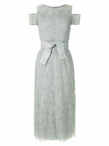 Gloria Coelho sequin embroidered midi dress - SILVER