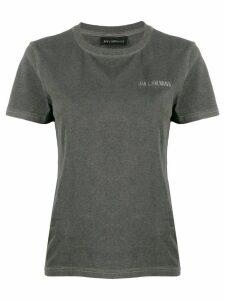 Han Kjøbenhavn embroidered logo T-shirt - Grey