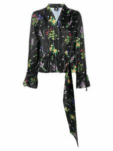 Kappa Kontroll floral print logo blouse - Black