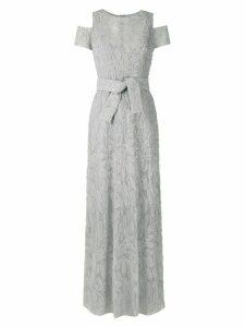 Gloria Coelho textured gown - Grey