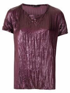 Uma Raquel Davidowicz Cary lacquered blouse - PURPLE