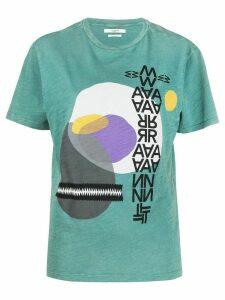 Isabel Marant Étoile Pewela graphic-print T-shirt - Green