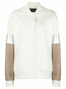 Simonetta Ravizza colour-block bomber jacket - NEUTRALS