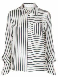 Roland Mouret contrast striped long sleeve shirt - PINK
