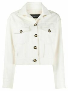 Simonetta Ravizza cropped slim-fit jacket - White
