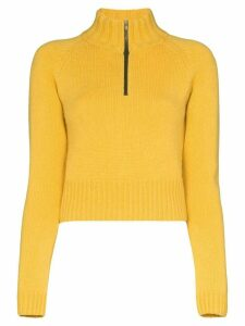 By Any Other Name high neck zipped jumper - Yellow