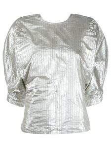 Isabel Marant Rolna metallic effect top - SILVER