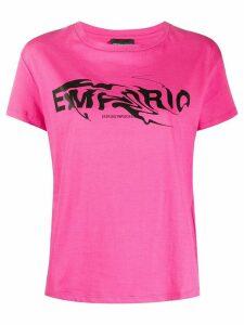 Emporio Armani crew neck logo T-shirt - PINK