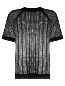 Filippa K Soft Sport mesh knit T-shirt - Black