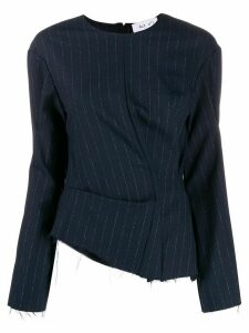 Act N°1 pinstriped print blouse - Blue