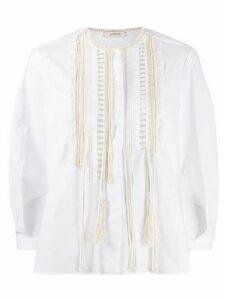Dorothee Schumacher poplin fringe blouse - White