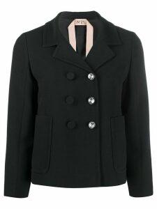 Nº21 off-centre fastening blazer - Black