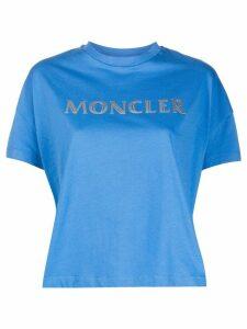 Moncler logo print T-shirt - Blue