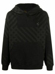 Vivienne Westwood Anglomania logo geometric print hoodie - Black