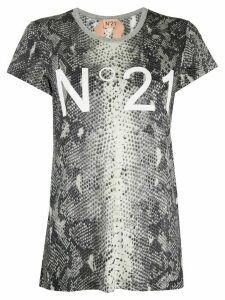 Nº21 snakeskin effect T-shirt - Grey