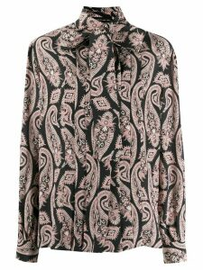 Etro paisley-print pussy-bow blouse - Black