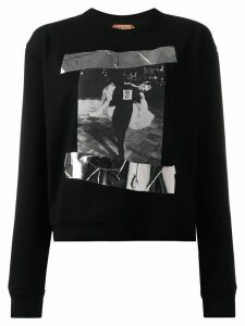 Nº21 photographic print sweatshirt - Black