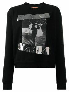 Nº21 photographic print sweatshirt - Black