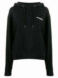 Han Kjøbenhavn logo print hoodie - Black
