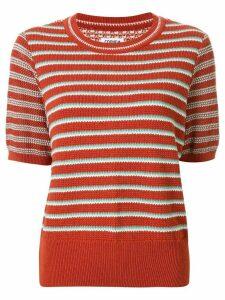 Coohem knitted retro wave top - ORANGE