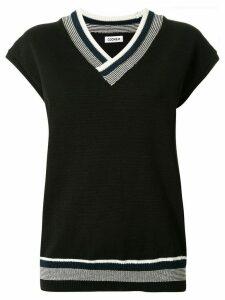 Coohem Good Summer V-neck knit top - Black