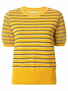 Coohem knitted retro wave top - Yellow