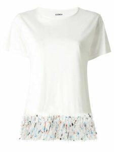 Coohem tweed fringe T-shirt - White