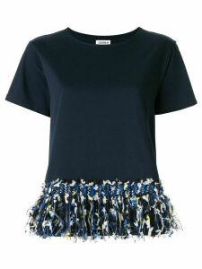 Coohem tweed fringe T-shirt - Blue