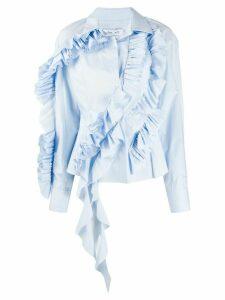 Act N°1 ruffle trimming shirt - Blue
