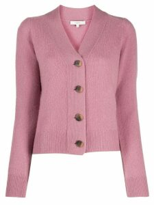 Vince cashmere long-sleeve fitted cardigan - PINK