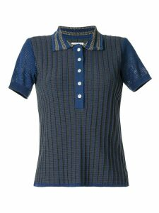 Coohem knitted retro wave polo shirt - Blue