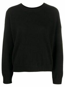 Vince plain cashmere jumper - Black