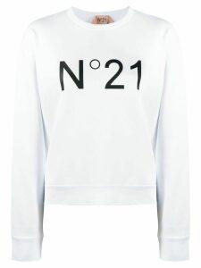 Nº21 logo print crew neck sweatshirt - White