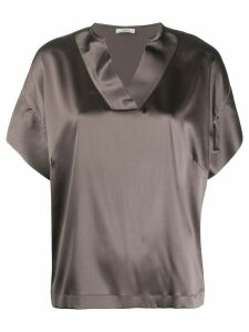 Peserico short sleeved blouse - Grey