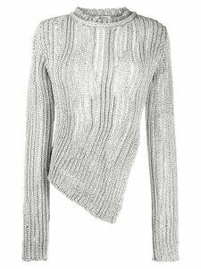 Acne Studios asymmetric knitted jumper - Grey