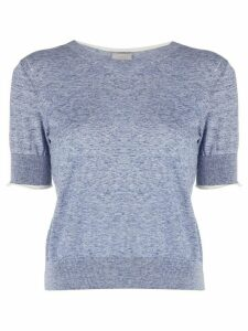 MRZ cropped knitted top - Blue