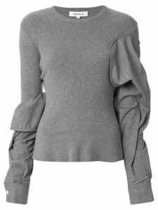 Enföld ruched twisted sleeve pullover - Grey