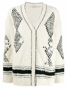 MRZ oversized V-neck cardigan - White