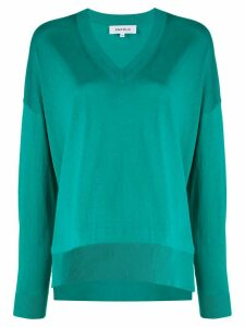Enföld oversized V-neck jumper - Green
