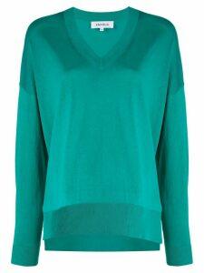Enföld oversized V-neck jumper - Green