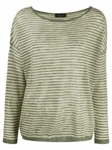 Roberto Collina striped knitted top - Green