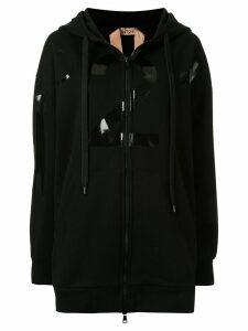 Nº21 logo print hoodie - Black