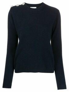GANNI cashmere embellished jumper - Blue