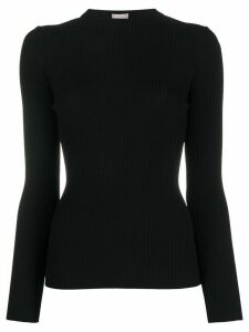 MRZ ribbed cut-out top - Black